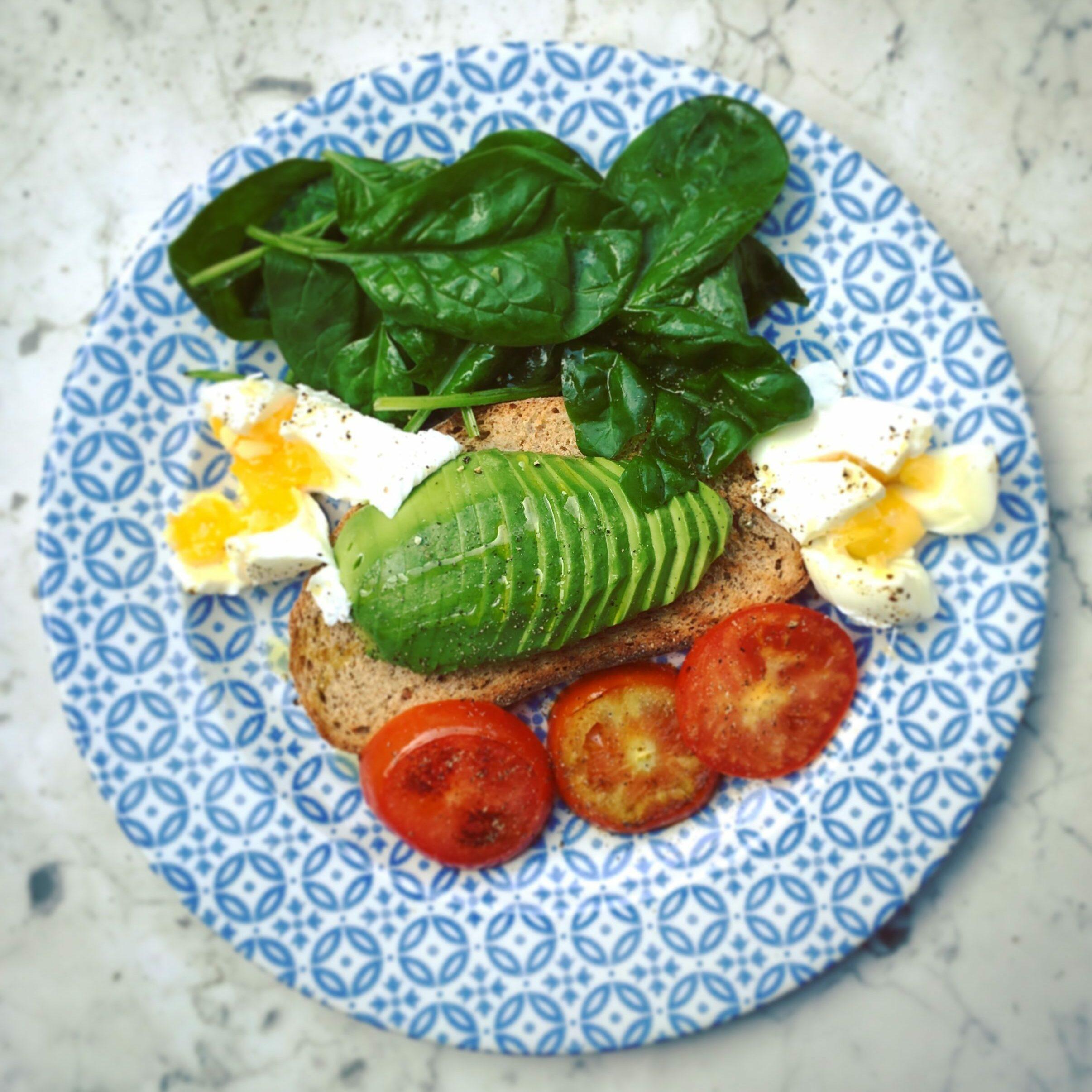 Breakfast with avocado etc
